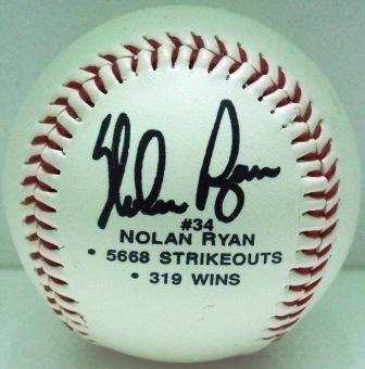 Nolan Ryan Facsimile Autographed Baseball