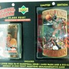 1996/97 Upper Deck  Limited Edition Michael Jordan 25,000 Point Milestone Commemorative Die-Cut Card