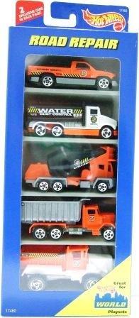 1996 - Mattel - Hot Wheels - 5 Car Gift Pack - Road Repair