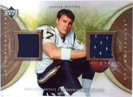 2007 - Philip Rivers - Upper Deck - NFL Artifacts - Photo Shoot Flash Back Fabrics - PSF-PR