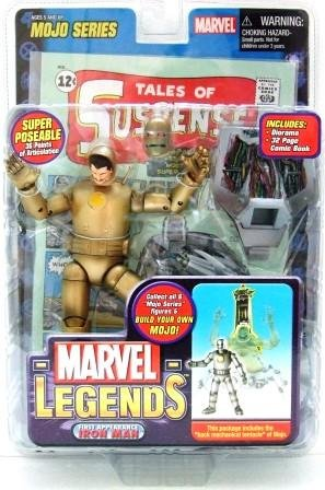 2006 - Iron Man (Variant) - Action Figures - Toy Biz - Marvel Legends - Mojo Series