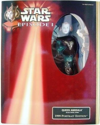 "1999 - Star Wars - Episode 1 - 1999 Portrait Edition - 12"" Box - Queen Amidala - Black Travel Gown"