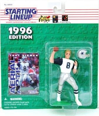 1996 - Troy Aikman -Action Figures - Starting Lineups - Football - Cowboys - Double Star