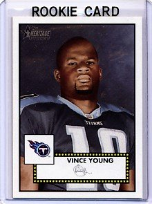 2006 - Vince Young - Topps - Heritage - NFL Football - Rookie Card - #320