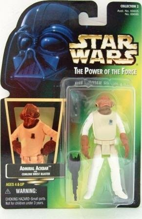 1997 - Admiral Ackbar - Action Figures - Star Wars - The Power of the Force - Green Card