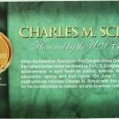 2001 - Charles M. Schulz - Fleetwood - Medallion Display Card - Limited Edition