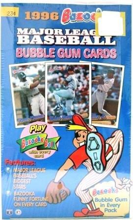 1996 - Topps - Bazooka - Baseball - Bubble Gum Cards - Factory Box 36 CT.