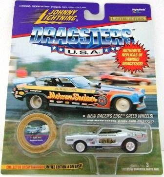 1996 - '71 Blue Max - Johnny Lightning - Dragsters U.S.A. - Raymond Beadle - Die-cast Metal