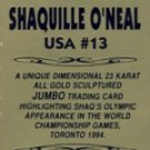 1994 - Shaquille O'Neal - Classic - 23K Gold - Sculptured Trading Card