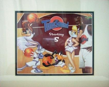 1996 - Michael Jordan - Tune Squad - Cartoon Art - Space Jam - Warner Bros. - Limited Edition Print
