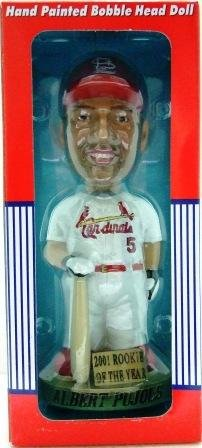 2001 - Albert Pujols - MLB Players Choice - Cardinals - Rookie of the Year - Bobble Head Doll