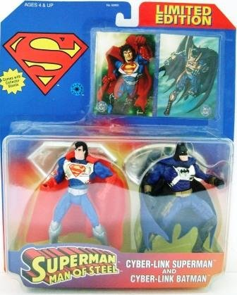 1997 - Superman Man of Steel - Kenner - DC Comics - Cyber - Link Superman and Cyber - Link Batman