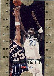 1995/96 - Kevin Garnett - NBA Basketball - SkyBox- NBA Hoops - Rookie Headliners - Card #4 of 10