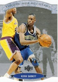 1995/96 - Kevin Garnett - Upper Deck - SP - NBA Basketball - Future NBA All-Stars - Card #AS28