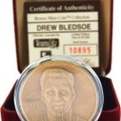 The Highland Mint - Drew Bledsoe - Bronze Mint Coin - Medallions Collection