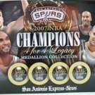 2007 - San Antonio Spurs - NBA Champions - 4 FOR 4 Legacy - Medallion Collection