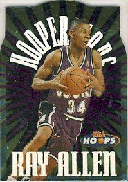 1996/97 - Ray Allen - NBA Basketball - NBA Hoops - Hooperstars - Rookie Card #4 of 10