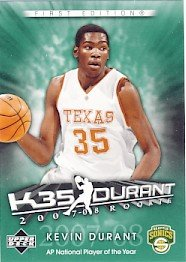2007/08 - Kevin Durant - NBA Basketball - Upper Deck - First Edition - Rookie Card #KD6