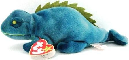 Ty - The Original - Beanie Baby - Iggy - Iguana - Used Plush Toys