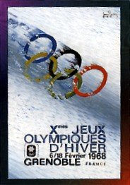 1996 - Winter Olympiad X - Collect-A-Card - 1968 Grenoble - Official Poster - Card # P-15