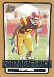 2007 - Steve Smith - Topps - Draft Picks And Prospects - NFL Football - Draft Pick - #122