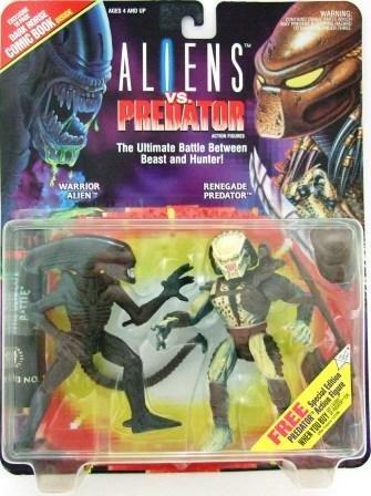 1993 - Kenner - Aliens vs. Predator - Warrior Alien  vs. Renegade Predator - Toy Action Figures