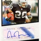 2005 - Justin Fargas - Topps - Football 50 Years - Autographed Rookie Card # T-JF