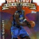 1997 - Kevin Garnett - Topps - Generations - Refractor - Card #G23