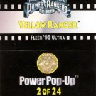 1995 - Fleer Ultra - Power Rangers - The Movie - Yellow Ranger - Power Pop-Up - #2 of 24