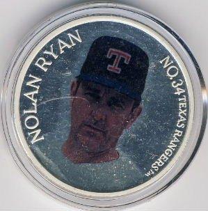 1966-1993  Enviro-Mint - Nolan Ryan - Farewell Season Commemorative - No. 00533 - Silver Medallion