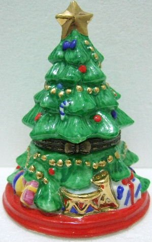 Beautiful Ceramic - Chistmas Tree - Trinket Box