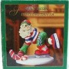 World Showcase - Poly Resin - Sporting Santa - Christmas Tree Ornament