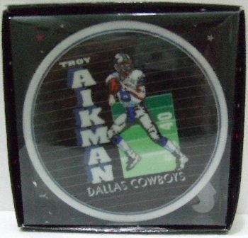 "1992 - Sports Impressions - Team NFL - Dallas Cowboys - Troy Aikman - 4"" Collectors Plate"