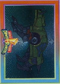 1994 - Mighty Morphin - Power Rangers - Power Foil Subset - Sabertooth Tiger Dinozord  - #9 of 12