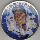 "1993 - Sports Impressions - Mickey Mantle - Living Legend - The Sports Superstar - 4"" Plate"