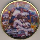 """1993 - Sports Impressions - Mickey Mantle - Mickey In The 50's - The Sports Superstar - 4"""" Plate"""