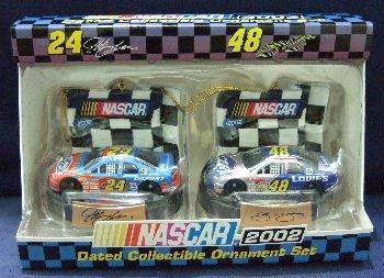 2002 - Tervco - NASCAR - Jeff Gordon & Jimmy Johnson - Dated Collectible Ornament Set