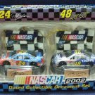2002 - Tervco - NASCAR - Jeff Gordon & Jimmy Johnson - Dated Collectible Ornament Set