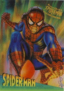 1995 - Marvel - Fleer Ultra - SpiderMan - Clear Chrome - Spider-Man - #9 of 10