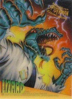 1995 - Marvel - Fleer Ultra - Spider-Man - Clear Chrome - Lizard - #5 of 10