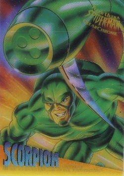 1995 - Marvel - Fleer Ultra - Spider-Man - Clear Chrome - Scorpion - #7 of 10
