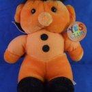 """Yes Club - 6"""" Orange Doll w/ Purple Cape - Plush Toy"""