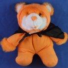 "Hugtun - 6"" Orange Bear w/ Black Cape - Plush Toy"