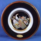 """The Art Of Chokin - Peacock - 24KT Gold Edged - 6"""" Collectors Plate"""
