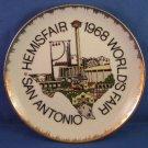 1968 - San Antonio - Hemisfair - Worlds Fair - Limited Edition - Souvenir - Collectors Plate