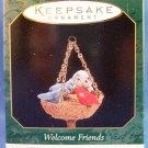 1997 - Hallmark - Keepsake Ornament - Welcome Friends -  Miniature - Christmas Ornament