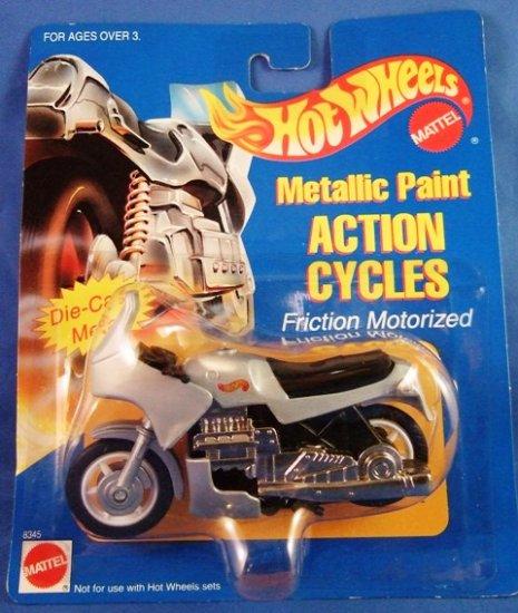 1995 - Mattel - Hot Wheels - Action Cycles - Silver Metallic Paint - Die-cast Metal