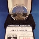 The Highland Mint - Jeff Bagwell - Houston Astros - Medallions Collection - Silver Coin