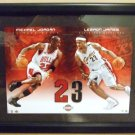 2006 - UDA - Jersey Numbers - Collection No. 23 - Michael Jordan-LeBron James - Sports Art