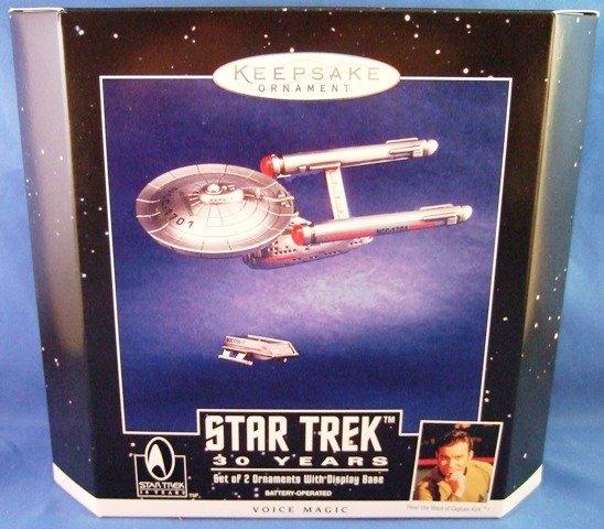 1996 - Hallmark - Keepsake Ornament - Star Trek - 30th Anniversary - Set of 2 Ornaments